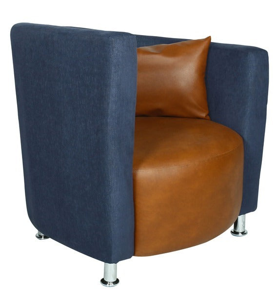 Detec™ Barrel Chair in Blue and Orange Colour