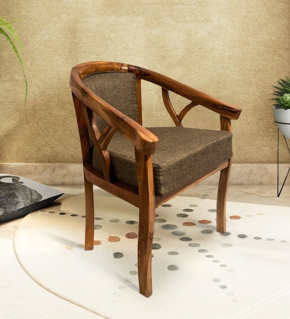 Detec™ Barrel Chair - Walnut Finish