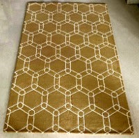Detec™ Wool Hand Tufted Rug - Brown Color