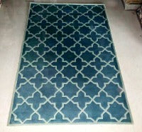 Detec™ Wool Hand Tufted Rug - Green Color
