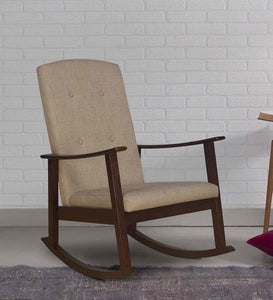 Detec™ Solid Wood Rocking Chair in Walnut Colour