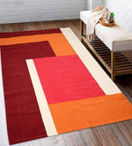Load image into Gallery viewer, Detec™ Geometrical Pattern Cotton Rug