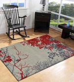 Load image into Gallery viewer, Detec™ Floral Pattern Polyester Hand Tufted Rug
