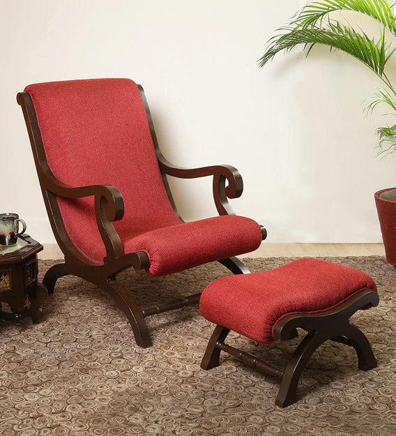 Detec™ Lounge Chair in Walnut Colour