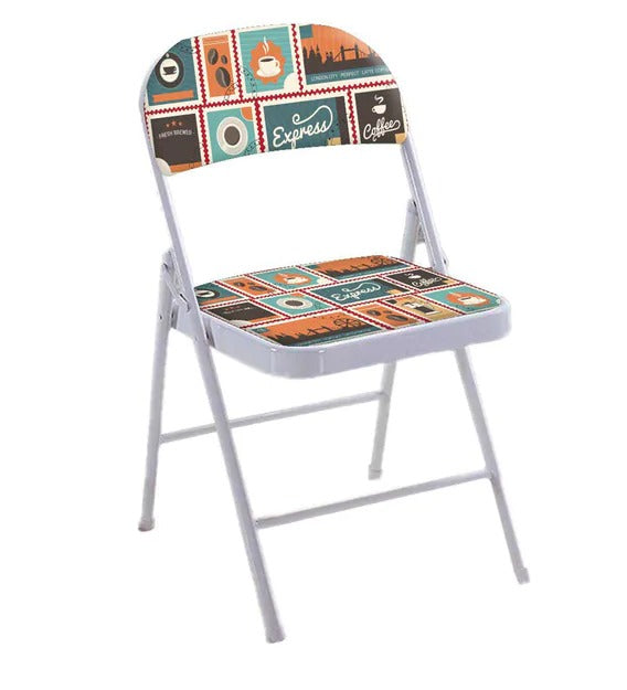Detec™ Print Metal Folding Chair - Multicolor