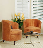 Load image into Gallery viewer, Detec™ Barrel Chair (Set of 2) - Mustard Color