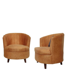 Detec™ Barrel Chair (Set of 2) - Mustard Color