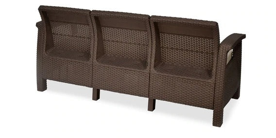 Detec™ Out'n'Out 3 Seater Sofa - Rust Brown Color