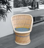 Load image into Gallery viewer, Detec™ Ethnic Handcrafted Muddha Chair - Beige Color