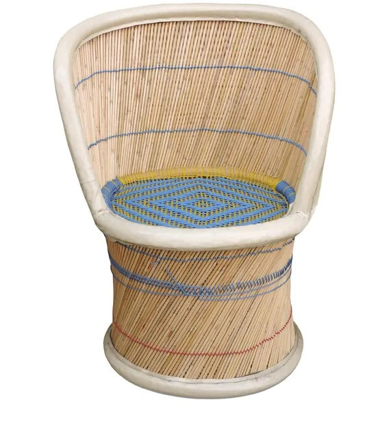 Detec™ Ethnic Handcrafted Muddha Chair - Beige Color