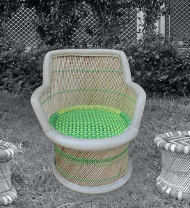 Detec™ Classic Handcrafted Muddha Chair - Green Color