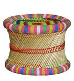 Load image into Gallery viewer, Detec™ Handcrafted Muddha Outdoor Chair with 2 Stools - Multi Color