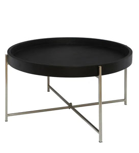 Detec™ Round Coffee Table - Black & Nickel Finish