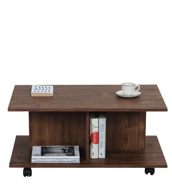 Detec™ Coffee Table with wheels - Arizona Walnut Color