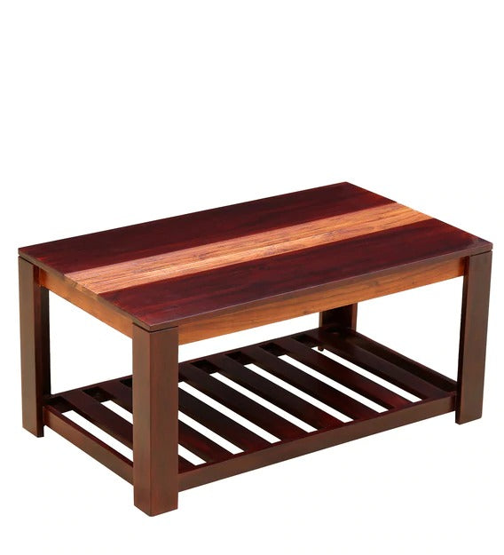 Detec™ Solid Wood Coffee Table - Dual Tone Finish