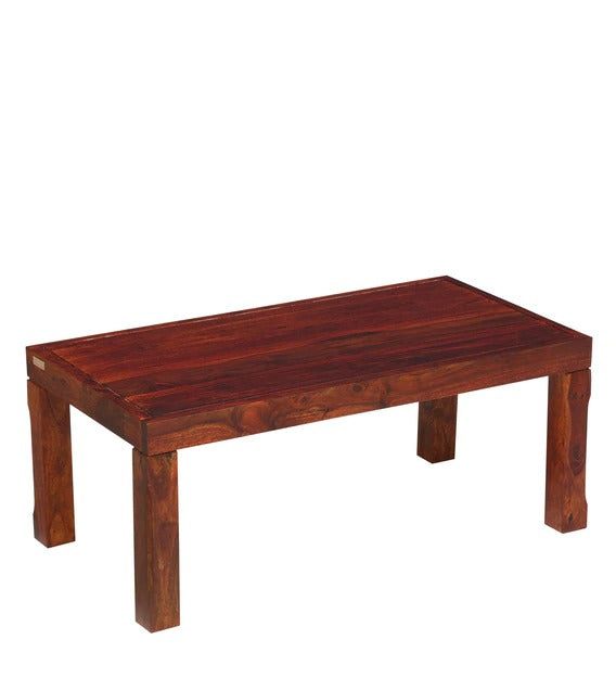 Detec™ Solid Wood Coffee Table - Honey Oak Finish