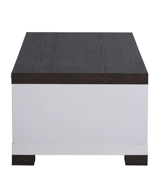 Detec™ Coffee Table with 4 Drawers - Charcoal Oak & White Color