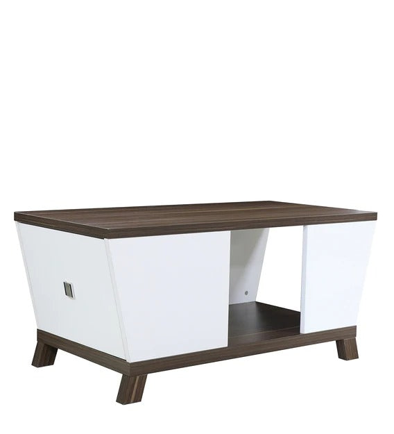Detec™ Coffee Table in Cairo Walnut & Frosty White Finish