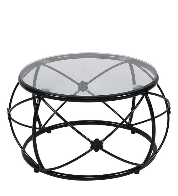 Detec™ Round Coffee Table - Glass Top