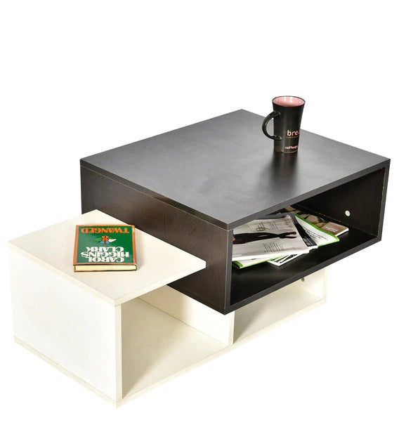 Detec™  Coffee Table - White & Brown Color