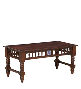 Detec™ Solid Wood Coffee Table Set - Honey Oak Finish