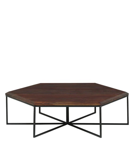 Detec™ Coffee Table Set with 6 Stools - Provincial Teak Finish