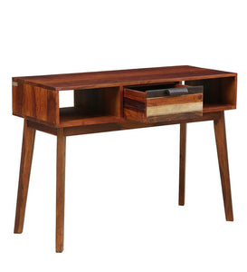 Detec™ Solid Wood Console Table - Dual Tone Finish