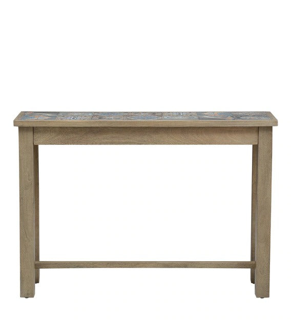 Detec™ Solid Wood Console Table - Olive Finish