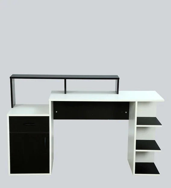 Detec™ Study Table - Wenge & Frosty While Color