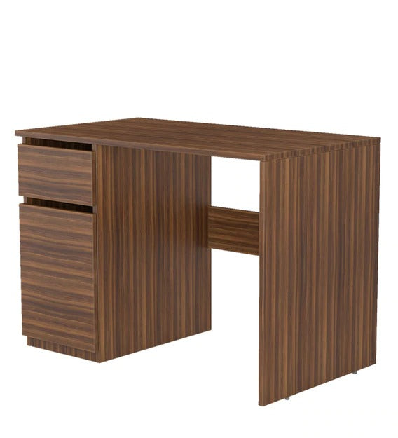 Detec™ Study Table - Matte Walnut Brown Finish