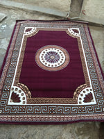 Load image into Gallery viewer, Detec™ Woolen Rug With Designer Borders - Maroon