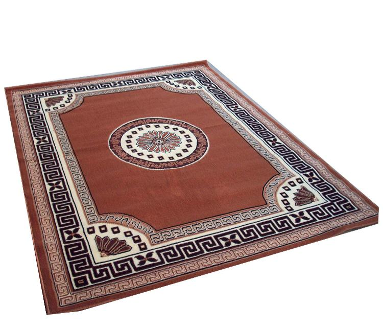 Detec™ Woolen Rug with Designer Borders - Shades of Brown