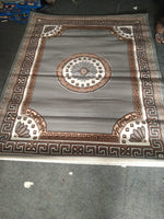 Load image into Gallery viewer, Detec™ Woolen Rug with Designer Borders - Shades of Brown