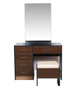 Detec™ Dressing Table with Stool - Brown Color