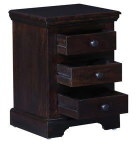 Detec™ Solid Wood Bedside Chest - Warm Chestnut Finish