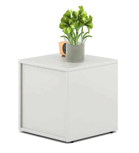 Detec™ Bed Side Table - Frosty White Color