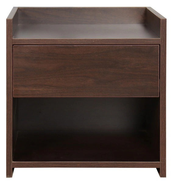 Detec™ Bedside Table With Drawer - Walnut Finish