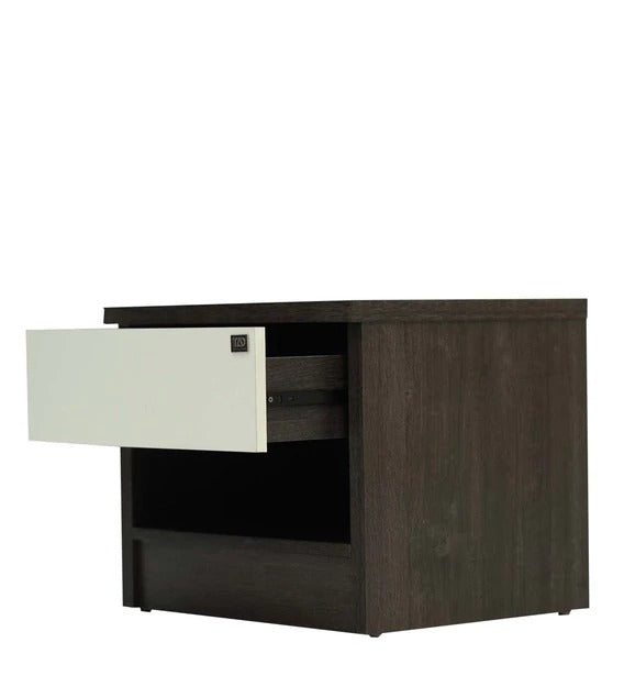 Detec™ Nightstand With Drawer - Charcoal & Belevedere Oak Finish
