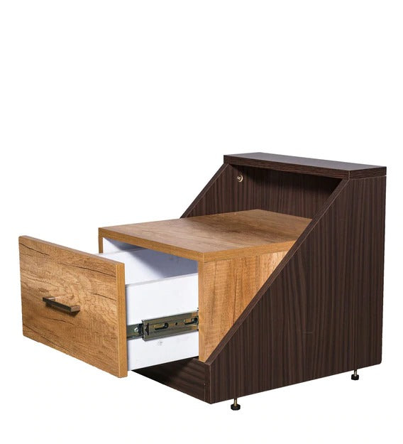 Detec™ BedSide Table - Oak Finish