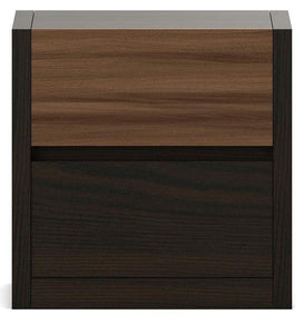 Detec™ Bed Side Chest - Fumed Oak Melamine Finish