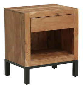 Detec™ Solid Wood Night Stand - Natural Acacia Finish