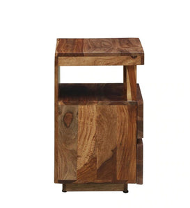 Detec™ Solid Wood Night Stand - Rustic Teak Finish