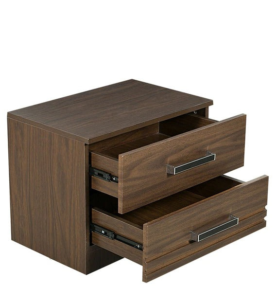 Detec™ Bed Side table with 2 Drawer - Wenge Finish