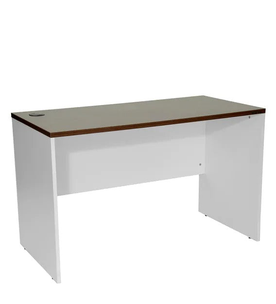 Detec™ Study Table - Dark Acacia & Frosty White Color