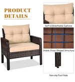 Load image into Gallery viewer, Detec™ Patio set in Brown & Cream Color