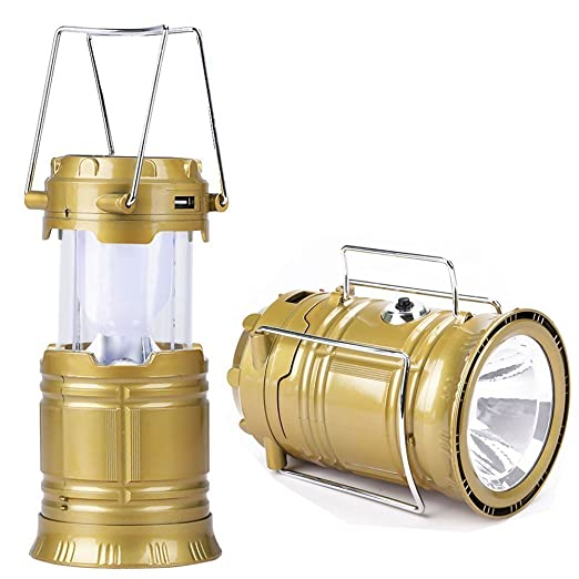 Detec™ Portable Rechargeable Solar LED Lantern Emergency Light Bulb