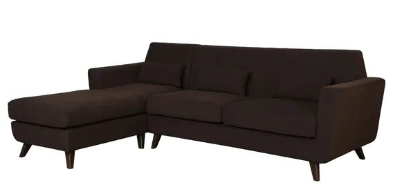 Detec™ Armin 3 Seater RHS Sectional Sofa - Chestnut Brown Color