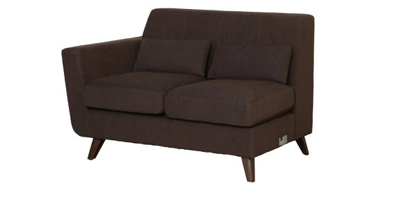 Detec™ Arno 2 Seater LHS Sectional Sofa - Chestnut Brown Color