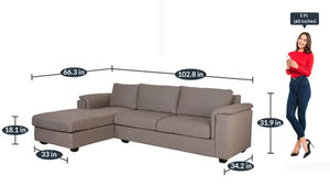 Detec™ Achim Sectional Sofas RHS with Lounger