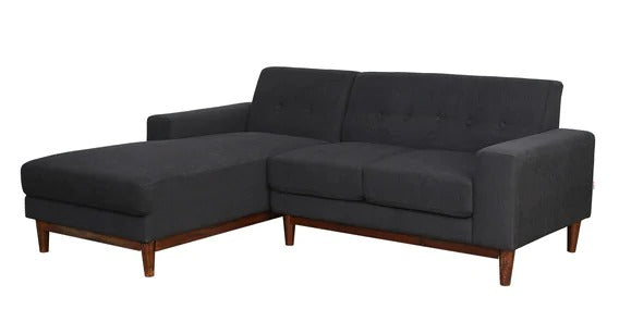 Detec™ Axel 2 Seater RHS Sectional Sofa - Charcoal Grey Color
